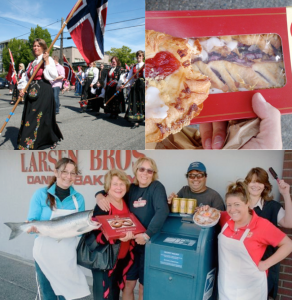 Staff at Larsens Bakery supporting the Scandinavian community. Photo provided by Larsens Bakery.