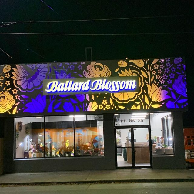 Photo taken by Ballard Blossom, Inc. - The Vibrant new storefront